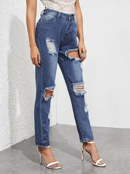 Yoins Casual Random Ripped details Jeans