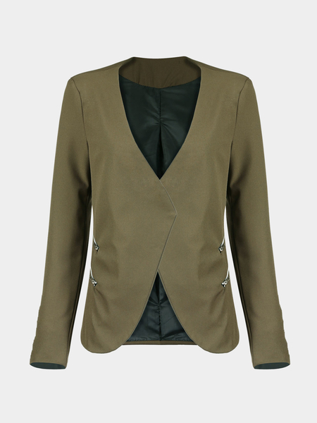 Yoins Zip Detail Waterfall Blazer