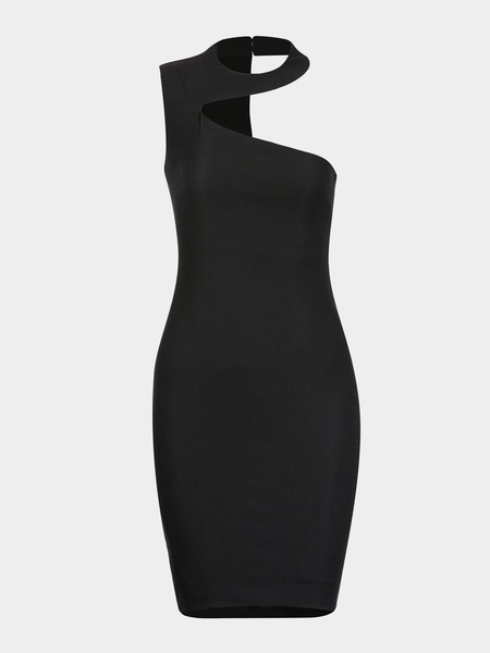 Black Dress with Cut-out Detail