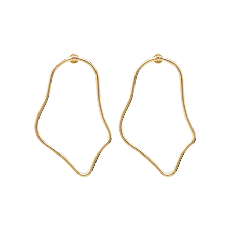 Gold Geometric Design Drop Earrings