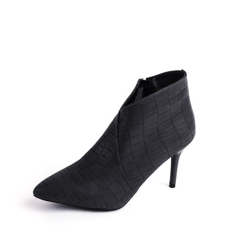 Black Point Toe Stiletto Ankle Boots