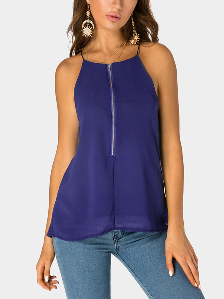 Royal V-neck Two Layers at Front Cami