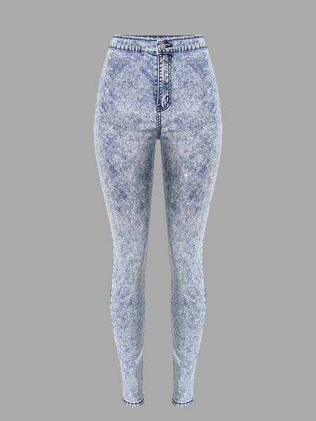 High Waist Skinny Jeans in Light Wash