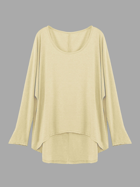 Beige Loose Women Casual Blouse