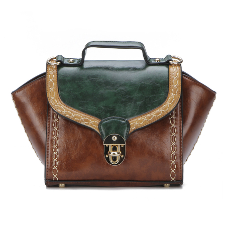 Green Vintage Style Cambridge Bag