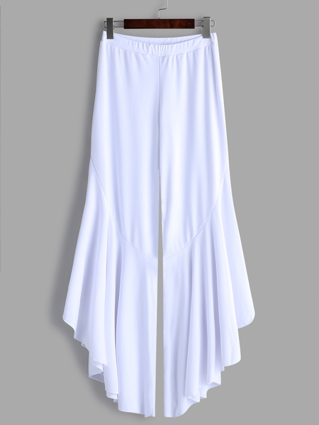 White Fashion La Bellbottoms Design Bottoms