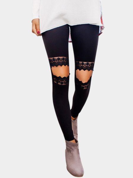 Black Cut Out High-waisted Pants