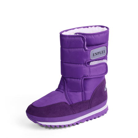 Yoins Purple Antiskid Waterproof Warm Boots