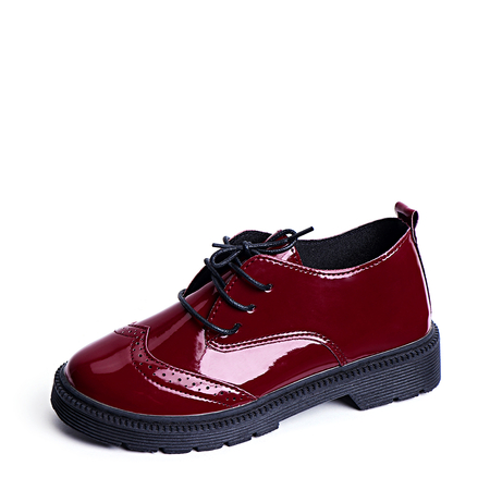 Burgundy Fashion Lace-up Design Boots