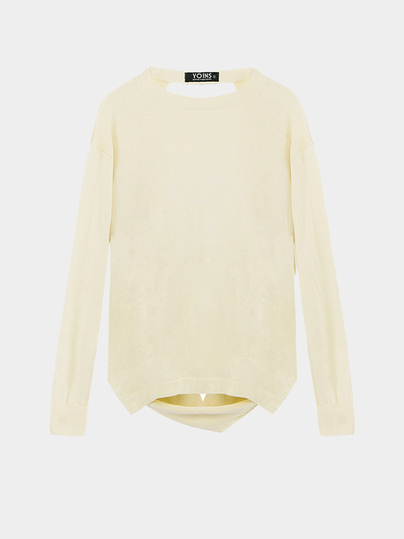 White Jumper with Back Detail