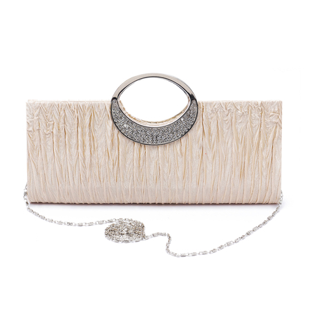 Apricot Fashion Clutch Bags with Chain Strap