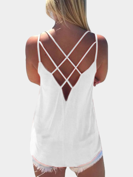 White Cross Front Top