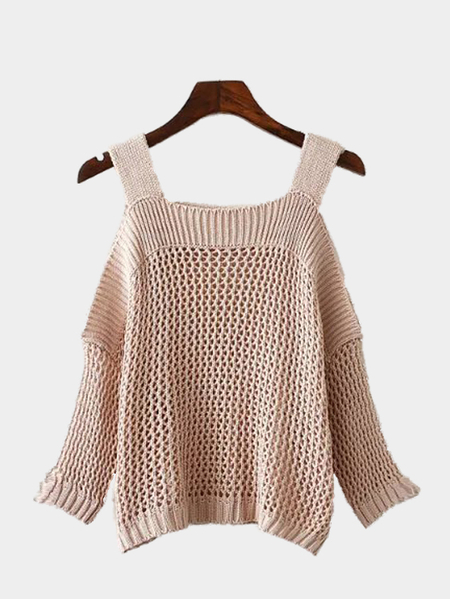 Cold Shoulder Hollow Out Cami Knitwear