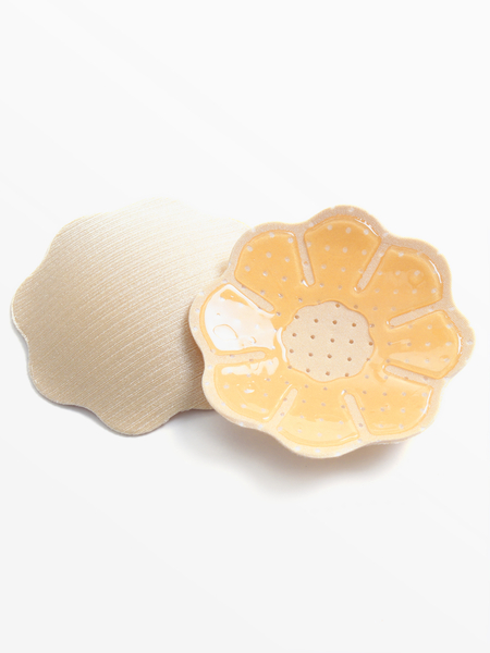 Nude Petal Shape Reusable Mini Silicone Nipple Covers - 1 Pairs