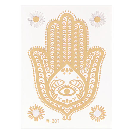 Cactus Metallic Temporary Body Tattoo Sticker