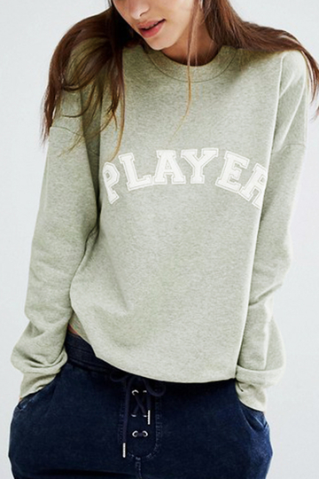 Grey Player Printed Casual Sweatshirt