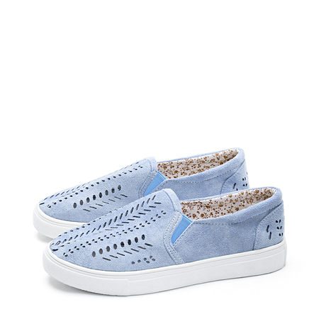Blue Fashion Hollow Design Sneakers
