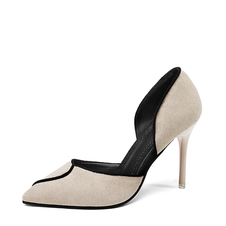 Apricot Point Toe Stiletto Pumps