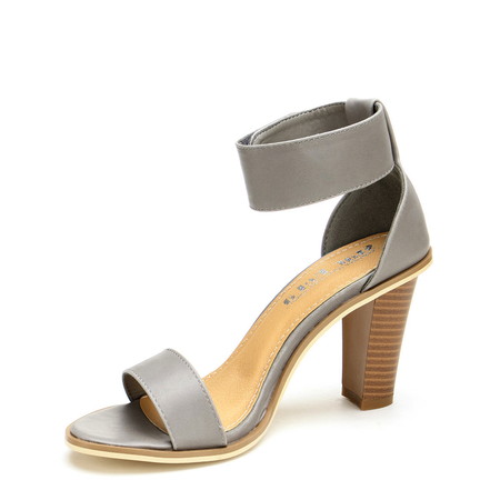 Ankle Strap Sandals In Grey