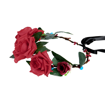 Rattan Wreath Tying Rose Headband