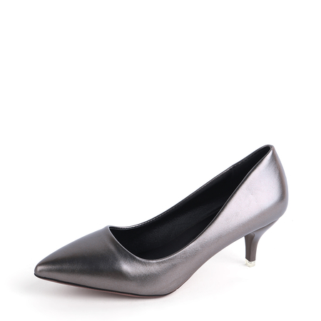 Yoins Silver Grey Point Toe Stiletto Heels