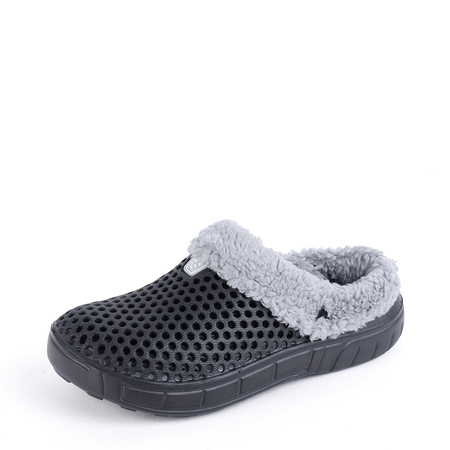 Black Clog Winter Antiskid Warm Indoor Casual House Slippers