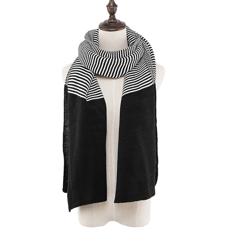 Stripe Scarf in Black and White