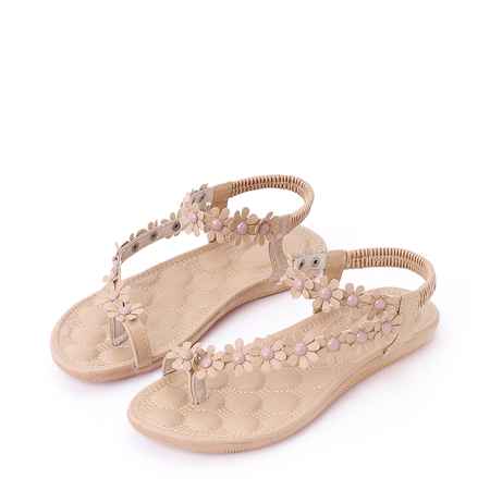 Floral Decoration Vocation Sandals in Pink