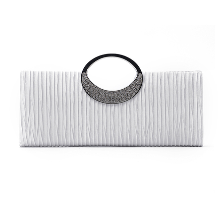 White Fashion Clutch Bags with Chain Strap