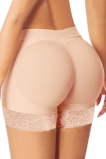 Blanchedalmond Body Shaper Lingeries With Lace Trim