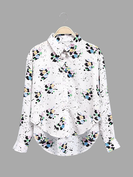 Bee Print Shirt with Long Sleeves