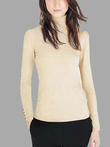 High Neck Knitted Top
