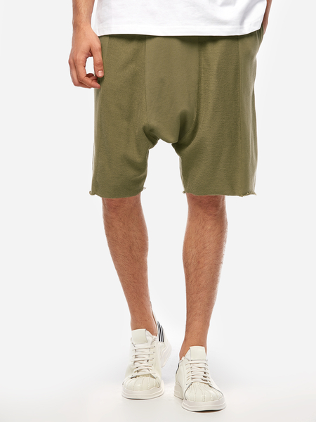 Army Green Fashion Style Splice Decoration Drawstring Waist Men's Casual Shorts