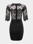 Black Dress with Lace Insert Back