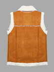 Gilet with Faux Shearling Collar