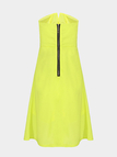 Yellow Strapless Dress with Zip Back
