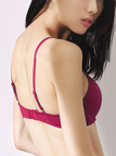 Rose Underwired Asjustable Push-up T-Shirt Bra