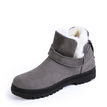 Grey Belt Decorated Fur-lined Warm Snow Boots