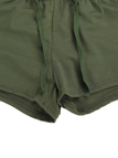 Army Green Sexy Sleeveless Crop Top and Drawstring Waist Skorts Co-ord