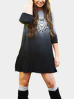 Long Sleeves Dress with Gradient Pattern