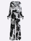 Floral Print Pattern Slit Co-ord