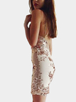 Sequin V-neck Sleeveless Open Back Mini Dress with Random Shoulder Strap