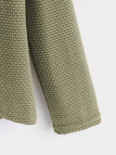 Green Crossed Front Design Plain Roll Neck Long Sleeves Sweaters