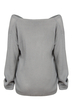 Grey Classic Design Loose Plunge Sweater