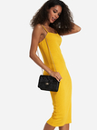 Yellow Spaghetti Strap Midi Dress