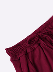 Burgundy Two Piece Outfits with Cut Out Details