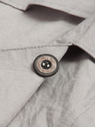 Gray Loose Fit Outwear With Lapel Collar
