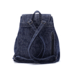 Dark Blue Plain Design Drawstring Backpack