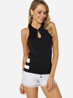 Black Sexy Sleeveless Cut Out Top