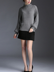 High Neck Sweater & Mini Skirt Two-Piece Co-ords